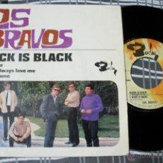 Discos de vinilo: LOS BRAVOS - BLACK IS BLACK + 3 - EP EDITADO EN FRANCIA 1966. Lote 55088329