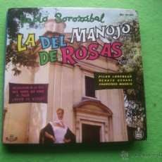 Discos de vinilo: PABLO SOLOZABAL – LA DEL MANOJO DE ROSAS EP 1960. Lote 55088401