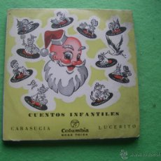 Disques de vinyle: CUENTOS INFANTILES - CUADRO ACTORES RADIO MADRID - CARASUCIA - LUCERITO - EP PEPETO. Lote 55088455