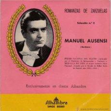 Discos de vinilo: MANUEL AUSENSI,ROMANZAS DE ZARZUELA VOL.2. Lote 55089539