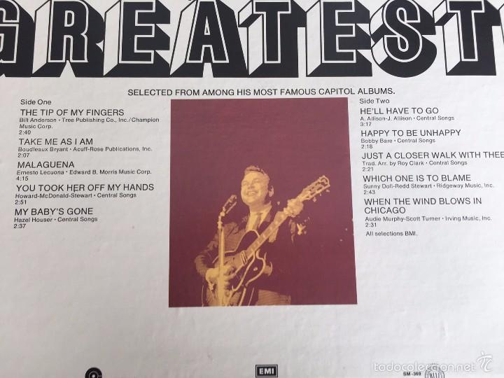 Discos de vinilo: Roy Clarks Greatest - LP- CAPITOL RECORDS- 1969- - Foto 3 - 55094937