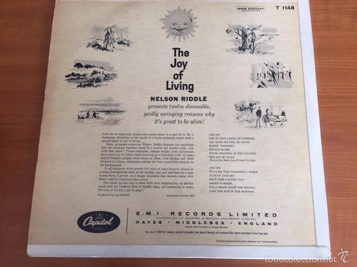 Discos de vinilo: Nelson Riddle - The Joy of Living- LP- CAPITOL RECORDS ST 1148 - Foto 2 - 55095197