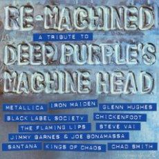 Discos de vinilo: RE-MACHINED: A TRIBUTE TO DEEP PURPLE * LP VINILO COLOR!! * MUY LTD * METALLICA * IRON MAIDEN .... Lote 145939737