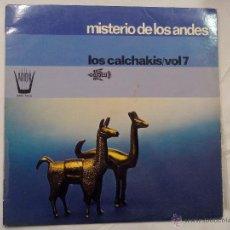 Discos de vinilo: LP. MISTERIO DE LOS ANDES. LOS CALCHASKIS. VOL 7. DISCOS ARION. . Lote 55102623