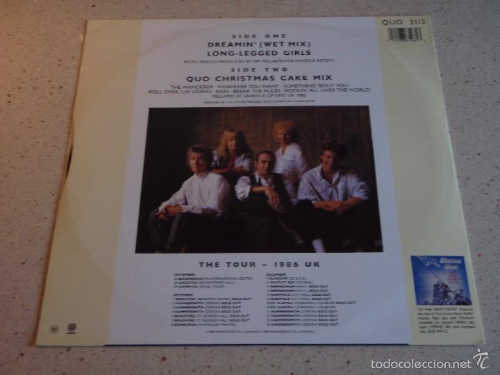 Discos de vinilo: STATUS QUO ( DREAMIN - LONG-LEGGED GIRLS - QUO CHRISTMAS CAKE MIX ) 1986-ENGLAND MAXI45 VERTIGO - Foto 2 - 55102867