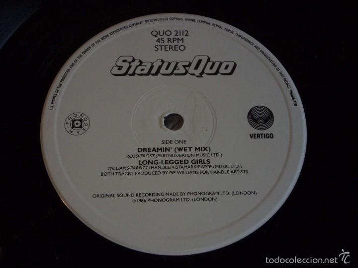 Discos de vinilo: STATUS QUO ( DREAMIN - LONG-LEGGED GIRLS - QUO CHRISTMAS CAKE MIX ) 1986-ENGLAND MAXI45 VERTIGO - Foto 3 - 55102867