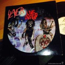 Discos de vinilo: SLAYER (LIVE UNDEAD) LP 1987 USA (VIN21). Lote 55108040