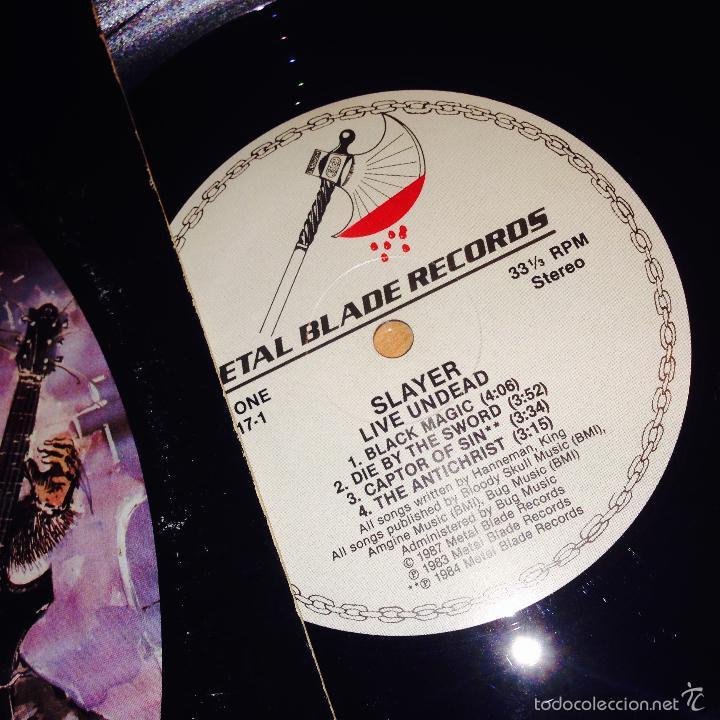 Discos de vinilo: SLAYER (LIVE UNDEAD) LP 1987 USA (VIN21) - Foto 2 - 55108040
