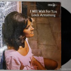 Discos de vinilo: LP VINILO LOUIS ARMSTRONG. I WILL WAIT FOR YOU. MCA. AÑO 1968. Lote 55121303