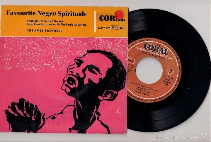 THE AMES BROTHERS; SHADRACK + WHO BUILT THE ARK + BLIND BARNABAS + JOSHUA... ORIGINAL ESPAÑOL (Música - Discos de Vinilo - EPs - Funk, Soul y Black Music)