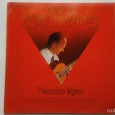 Discos de vinilo: NARCISO YEPES - GENIOS DE LA MÚSICA ESPAÑOLA 3 - 1981. Lote 55125916