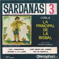 Discos de vinilo: SARDANAS, COBLA LA PRINCIPAL DE LA BISBAL. Lote 55143084