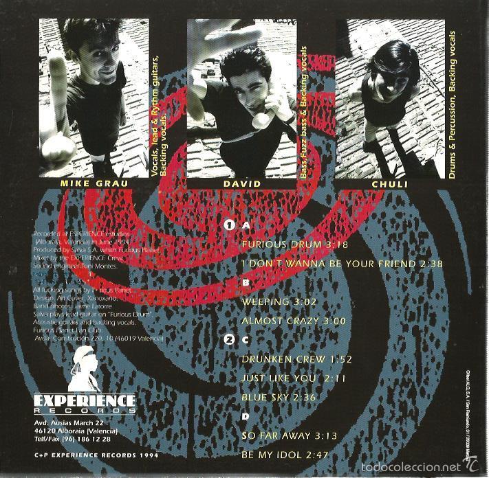 Discos de vinilo: FURIOUS PLANET : UNDIGESTED (DOBLE EP FIRMADO Y DIBUJADO EN PROPIA MANO POR LOS MIEMBROS DEL GRUPO ) - Foto 2 - 55144159