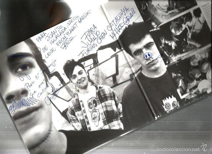 Discos de vinilo: FURIOUS PLANET : UNDIGESTED (DOBLE EP FIRMADO Y DIBUJADO EN PROPIA MANO POR LOS MIEMBROS DEL GRUPO ) - Foto 3 - 55144159