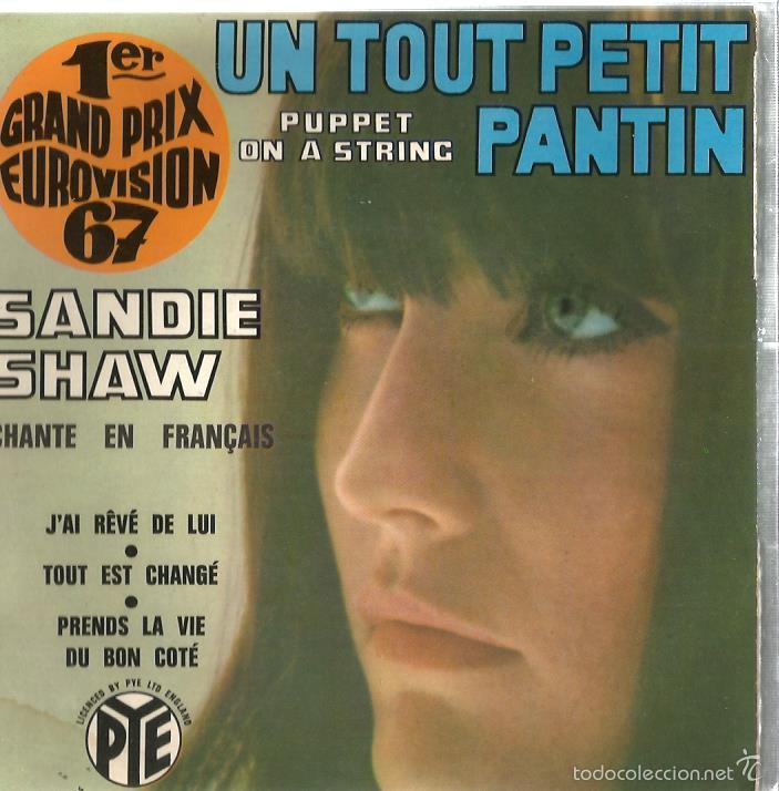 EP EUROVISION : SANDIE SHAW CHANTE EN FRANÇAIS : PUPPET ON A STRING (Música - Discos de Vinilo - EPs - Festival de Eurovisión)