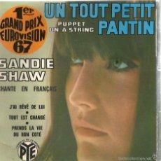 Discos de vinilo: EP EUROVISION : SANDIE SHAW CHANTE EN FRANÇAIS : PUPPET ON A STRING . Lote 55144278