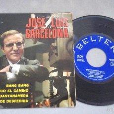 Disques de vinyle: JOSE LUIS BARCELONA EP BELTER 1966 BANG BANG (SONNY BONO)/ LARGO EL CAMINO/ GUANTANAMERA (SEEGER) +1. Lote 55146238