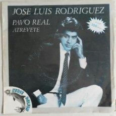 Discos de vinilo: JOSE LUIS RODRIGUEZ EL PUMA: PAVO REAL/ATREVETE. Lote 55159240