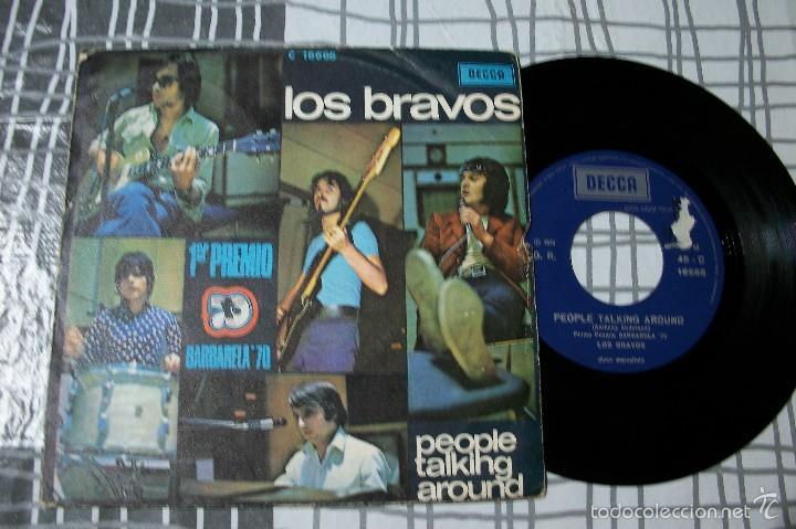 LOS BRAVOS - PEOPLE TALKING AROUND - SINGLE EDICIÓN FRANCIA (Música - Discos - Singles Vinilo - Grupos Españoles de los 70 y 80)