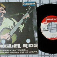 Discos de vinilo: MIGUEL RIOS - LA GUITARRA + 3 - EP - PRESIDENT - FRANCIA. Lote 167521704