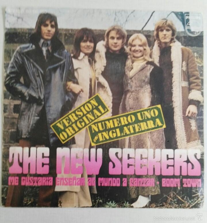 THE NEW SEEKERS: ME GUSTARIA ENSEÑAR AL MUNDO A CANTAR/BOOM TOWN (Música - Discos - Singles Vinilo - Pop - Rock - Extranjero de los 70)