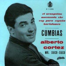Discos de vinilo: ALBERTO CORTEZ - EP SINGLE VINILO 7'' - EDITADO EN PORTUGAL - EL ORANGUTÁN + 3 - ALVORADA. Lote 55169706