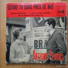 Discos de vinilo: QUAND TU DORS PRES DE MOI, ANTHONY PERKINS, PATHE. Lote 55174787