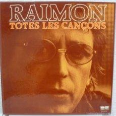 Discos de vinilo: RAIMON - TOTES LES CANÇONS (CAJA DE 10 LPS CON LIBRETO BELTER 1981) MUY BUEN ESTADO. Lote 55175664
