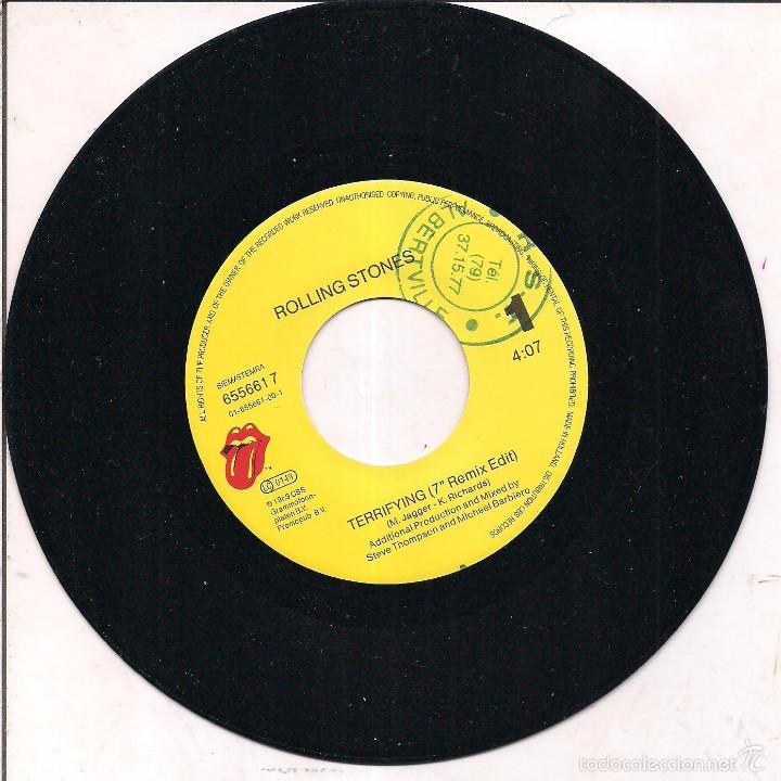 Discos de vinilo: THE ROLLING STONES / TERRIFYING/ WISH I·D NEVER MET YOU. 1989 CBS/ MADE IN HOLLAND - Foto 3 - 55186657