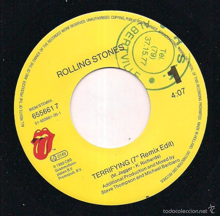 Discos de vinilo: THE ROLLING STONES / TERRIFYING/ WISH I·D NEVER MET YOU. 1989 CBS/ MADE IN HOLLAND - Foto 4 - 55186657