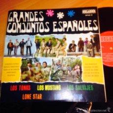 Discos de vinilo: GRANDES CONJUNTOS ESPAÑOLES (MUSTANG, LONE STAR, SALVAJES, JAVALOYAS, TONKS) LP 10 INCH 1968 (VINA). Lote 56374500