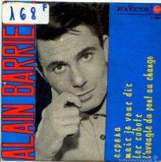 Discos de vinilo: ALAIN BARRIERE / ESPERA / MAIS JE VOUS DIS + 2 (EP 1965). Lote 55202967