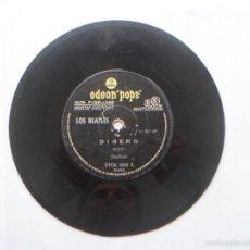 Discos de vinil: SINGLE ARGENTINO DE LOS BEATLES - DINERO - MUCHACHOS - MONEY - BOYS - ODEON POPS - RARO. Lote 55229150