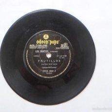 Discos de vinil: SINGLE ARGENTINO DE LOS BEATLES - FRUTILLAS - PENNY LANE - ODEON POPS - RARO. Lote 55229229
