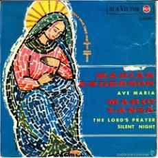 Discos de vinilo: MARIAN ANDERSON + MARIO LANZA-AVE MARIA + PADRE NUESTRO + NOCHE DE PAZ EP VINILO 1965 SPAIN. Lote 55234766