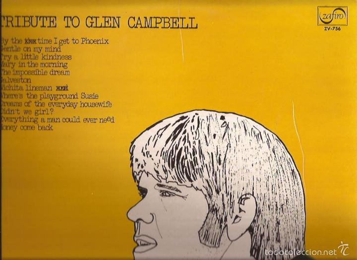 LP-TRIBUTE TO GLENN CAMPBELL ZAFIRO 756 SPAIN 1973 COUNTRY (Música - Discos - LP Vinilo - Country y Folk)