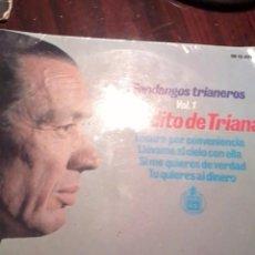 Discos de vinilo: SOLO LA CARATULA. SIN DISCO FANDANGOS TRIANERO. VOL. 1. GORDITO DE TRIANA. MB2. Lote 55243588