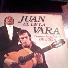 Discos de vinilo: JUAN EL DE LA VARA GUITARRISTA. PACO DE LUCIA. MB2. Lote 55248543