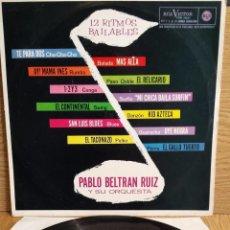 Discos de vinilo: PABLO BELTRAN RUIZ Y SU ORQUESTA. 12 RITMOS BAILABLES. LP / RCA-VICTOR - 1964. MBC. **/***. Lote 55309838