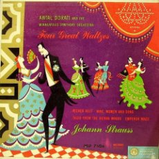 Discos de vinilo: ANTAL DORATI AND THE MINNEAPOLIS SYMPHONY ORCHESTRA + JOHANN STRAUS-FOUR GREAT WATZES LP VINILO. Lote 55310301