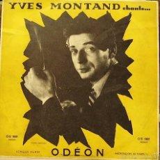 Discos de vinilo: YVES MONTAND-CHANTE LP VINILO (10 PULGADAS) FRANCE. Lote 55312752