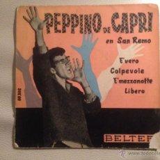 Discos de vinilo: PEPPINO DI CAPRI - EP BELTER 1960. Lote 55316343