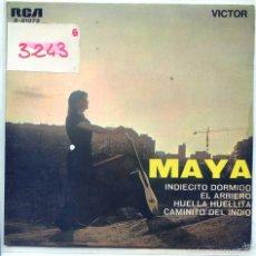 Discos de vinilo: MAYA / EL ARRIERO / HUELLA HUELLITA + 2 (EP 1968). Lote 55317891