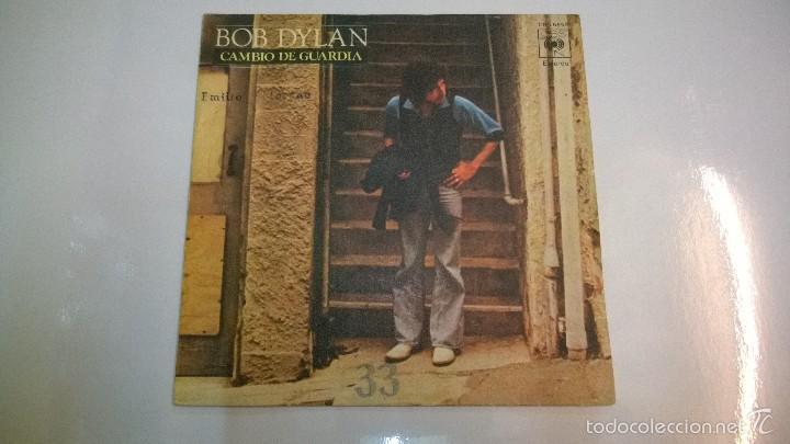 BOB DYLAN.CAMBIO DE GUARDIA.SINGLE.ESPAÑA 1978.CBS. (Música - Discos - Singles Vinilo - Pop - Rock - Extranjero de los 70)
