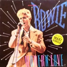 Discos de vinilo: DAVID BOWIE - MODERN LOVE 2 VERSIONES - MAXI SINGLE ESPAÑA CON SELLO PROMOCIONAL EN CONTRAPORTADA. Lote 55324301