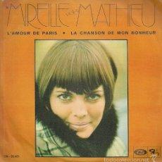 Discos de vinilo: MIREILLE MATHIEU SINGLE SELLO MOVIEPLAY AÑO 1970 EDITADO EN ESPAÑA . Lote 55325744