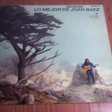 Discos de vinilo: LP - LO MEJOR DE JOAN BAEZ (HISPAVOX-1965) - EN MUY BUEN ESTADO. Lote 55326788