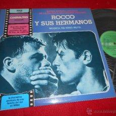 Discos de vinilo: ROCCO Y SUS HERMANOS BSO OST LP NINO ROTA LP 1981 RCA PROMO SPAIN LUCHINO VISCONTI. Lote 55326863