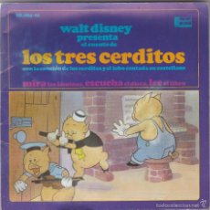 Discos de vinilo: WALT DISNEY,LOS TRES CERDITOS DISCO Y CUENTO DEL 67. Lote 55327553