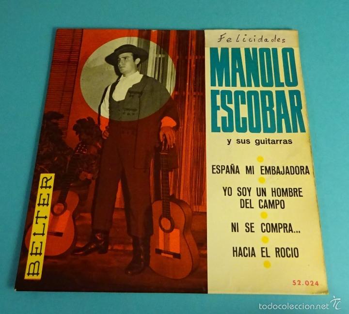 MANOLO ESCOBAR Y SUS GUITARRAS. BELTER (Música - Discos de Vinilo - EPs - Flamenco, Canción española y Cuplé)